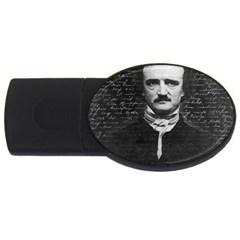 Edgar Allan Poe  Usb Flash Drive Oval (4 Gb) by Valentinaart