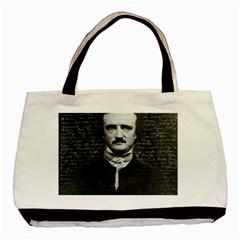 Edgar Allan Poe  Basic Tote Bag by Valentinaart
