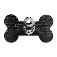 Edgar Allan Poe  Dog Tag Bone (one Side) by Valentinaart