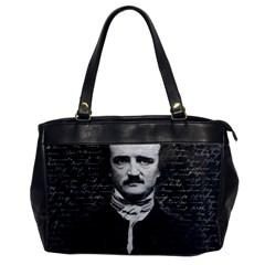 Edgar Allan Poe  Office Handbags by Valentinaart