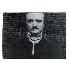 Edgar Allan Poe  Cosmetic Bag (xxl)  by Valentinaart