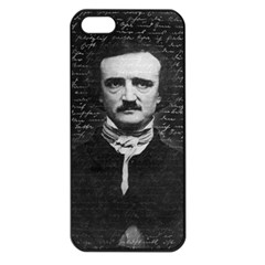 Edgar Allan Poe  Apple Iphone 5 Seamless Case (black) by Valentinaart