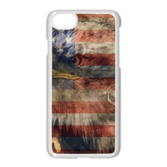 Vintage Eagle  Apple iPhone 7 Seamless Case (White) by Valentinaart