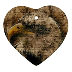 Vintage Eagle  Ornament (heart) by Valentinaart