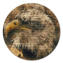 Vintage Eagle  Magnet 5  (round) by Valentinaart