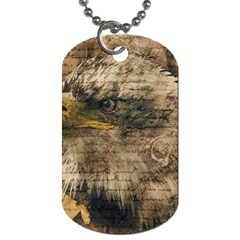 Vintage Eagle  Dog Tag (two Sides) by Valentinaart