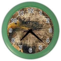 Vintage Eagle  Color Wall Clocks by Valentinaart