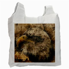 Vintage Eagle  Recycle Bag (two Side)  by Valentinaart