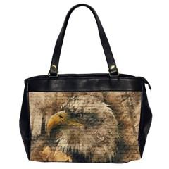 Vintage Eagle  Office Handbags (2 Sides)  by Valentinaart