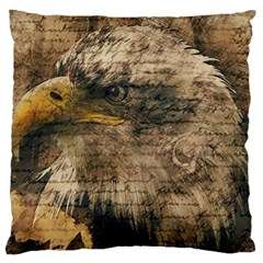 Vintage Eagle  Large Cushion Case (two Sides) by Valentinaart