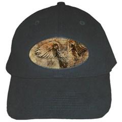 Vintage Owl Black Cap by Valentinaart