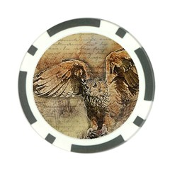 Vintage Owl Poker Chip Card Guard (10 Pack) by Valentinaart