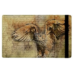 Vintage Owl Apple Ipad 2 Flip Case by Valentinaart