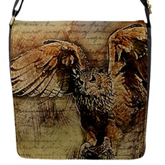Vintage Owl Flap Messenger Bag (s) by Valentinaart