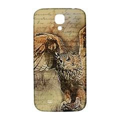 Vintage Owl Samsung Galaxy S4 I9500/i9505  Hardshell Back Case by Valentinaart