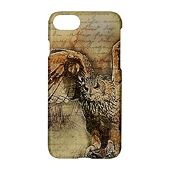 Vintage Owl Apple Iphone 7 Hardshell Case by Valentinaart