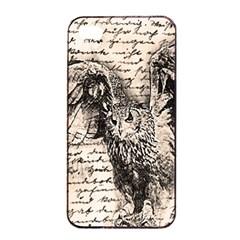 Vintage Owl Apple Iphone 4/4s Seamless Case (black) by Valentinaart