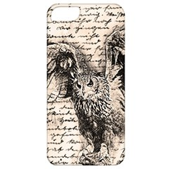 Vintage Owl Apple Iphone 5 Classic Hardshell Case by Valentinaart