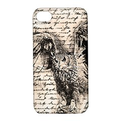 Vintage Owl Apple Iphone 4/4s Hardshell Case With Stand by Valentinaart