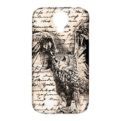Vintage Owl Samsung Galaxy S4 Classic Hardshell Case (pc+silicone) by Valentinaart