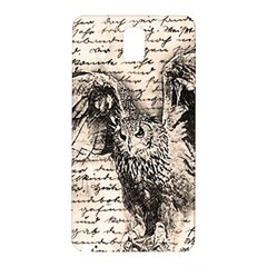 Vintage Owl Samsung Galaxy Note 3 N9005 Hardshell Back Case by Valentinaart