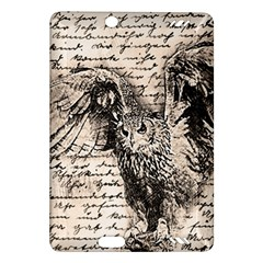 Vintage Owl Amazon Kindle Fire Hd (2013) Hardshell Case by Valentinaart