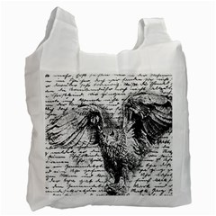 Vintage Owl Recycle Bag (two Side)  by Valentinaart