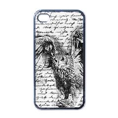 Vintage Owl Apple Iphone 4 Case (black) by Valentinaart