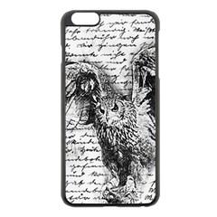 Vintage Owl Apple Iphone 6 Plus/6s Plus Black Enamel Case by Valentinaart