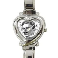 Nikola Tesla Heart Italian Charm Watch by Valentinaart