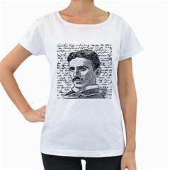 Nikola Tesla Women s Loose Fit T Shirt (white) by Valentinaart