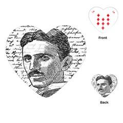 Nikola Tesla Playing Cards (heart)  by Valentinaart