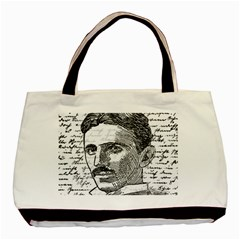 Nikola Tesla Basic Tote Bag by Valentinaart