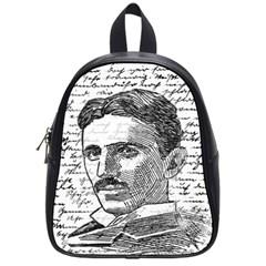 Nikola Tesla School Bags (small)  by Valentinaart