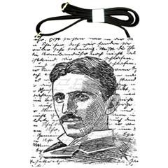 Nikola Tesla Shoulder Sling Bags by Valentinaart