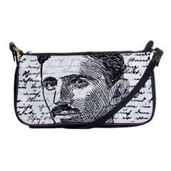 Nikola Tesla Shoulder Clutch Bags by Valentinaart