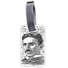 Nikola Tesla Luggage Tags (two Sides) by Valentinaart