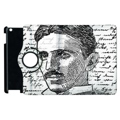 Nikola Tesla Apple Ipad 2 Flip 360 Case by Valentinaart