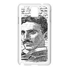Nikola Tesla Samsung Galaxy Note 3 N9005 Case (white) by Valentinaart