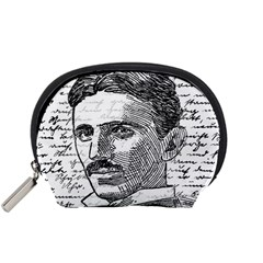 Nikola Tesla Accessory Pouches (small)  by Valentinaart