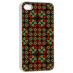 Asian Ornate Patchwork Pattern Apple Iphone 4/4s Seamless Case (white) by dflcprints