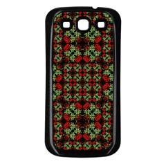 Asian Ornate Patchwork Pattern Samsung Galaxy S3 Back Case (black) by dflcprints