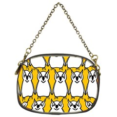 Yellow Owl Background Chain Purses (one Side)  by Simbadda