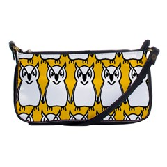 Yellow Owl Background Shoulder Clutch Bags by Simbadda