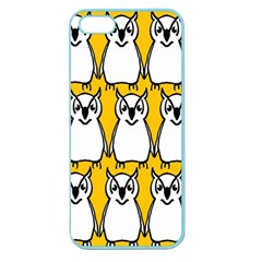 Yellow Owl Background Apple Seamless Iphone 5 Case (color) by Simbadda