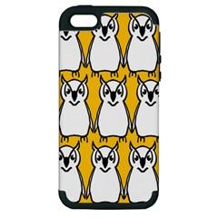 Yellow Owl Background Apple Iphone 5 Hardshell Case (pc+silicone)