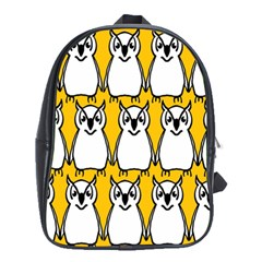 Yellow Owl Background School Bags (xl)  by Simbadda
