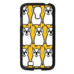Yellow Owl Background Samsung Galaxy S4 I9500/ I9505 Case (black) by Simbadda
