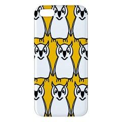 Yellow Owl Background Iphone 5s/ Se Premium Hardshell Case by Simbadda