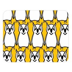 Yellow Owl Background Double Sided Flano Blanket (Large)